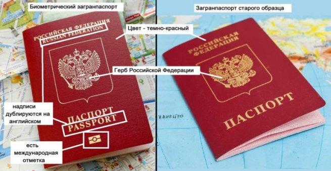 загранпаспорт старого и нового образца