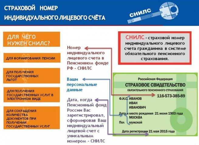 схема предназначения СНИЛС